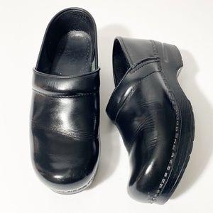 Dansko Black Professional Workwear Leather Clogs